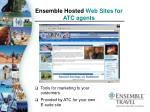 ensemble hosted web sites for atc agents