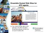 ensemble hosted web sites for atc agents85