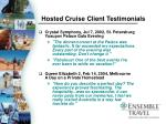 hosted cruise client testimonials