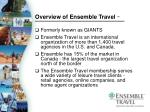 overview of ensemble travel tm