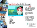 target mailing sun on sale campaign