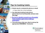 tips for booking hotels