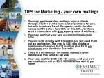 tips for marketing your own mailings