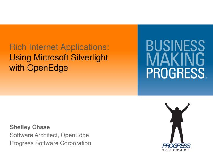 rich internet applications using microsoft silverlight with openedge n.