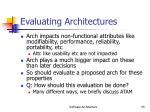evaluating architectures