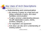 key uses of arch descriptions