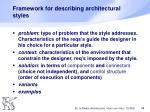 framework for describing architectural styles