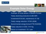 example solar energy