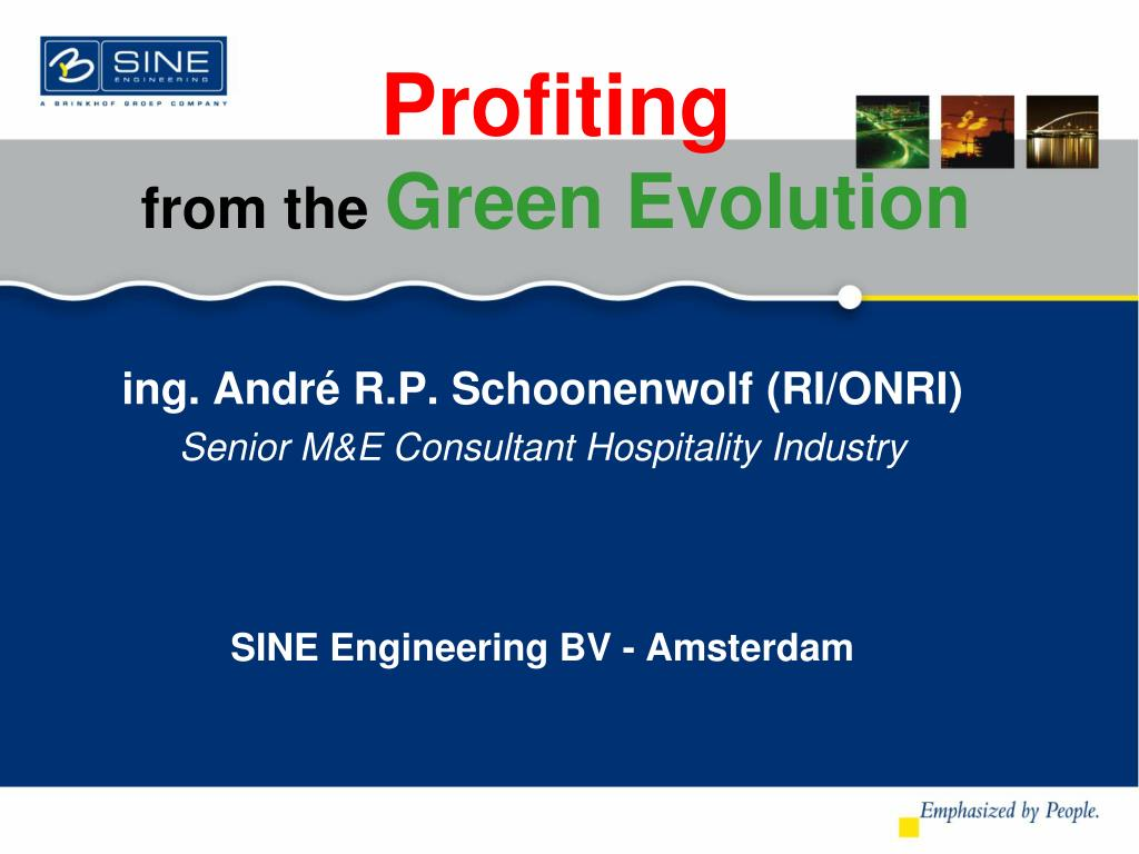 profiting from the green evolution l.