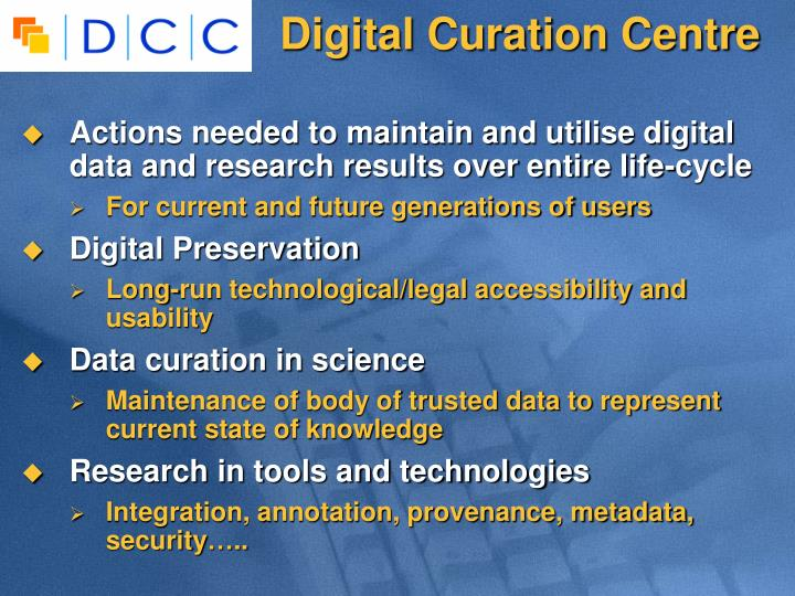 Digital Curation Centre