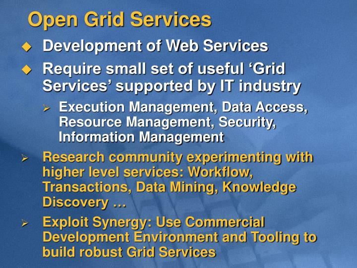 Open Grid Services