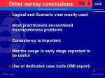 other survey conclusions