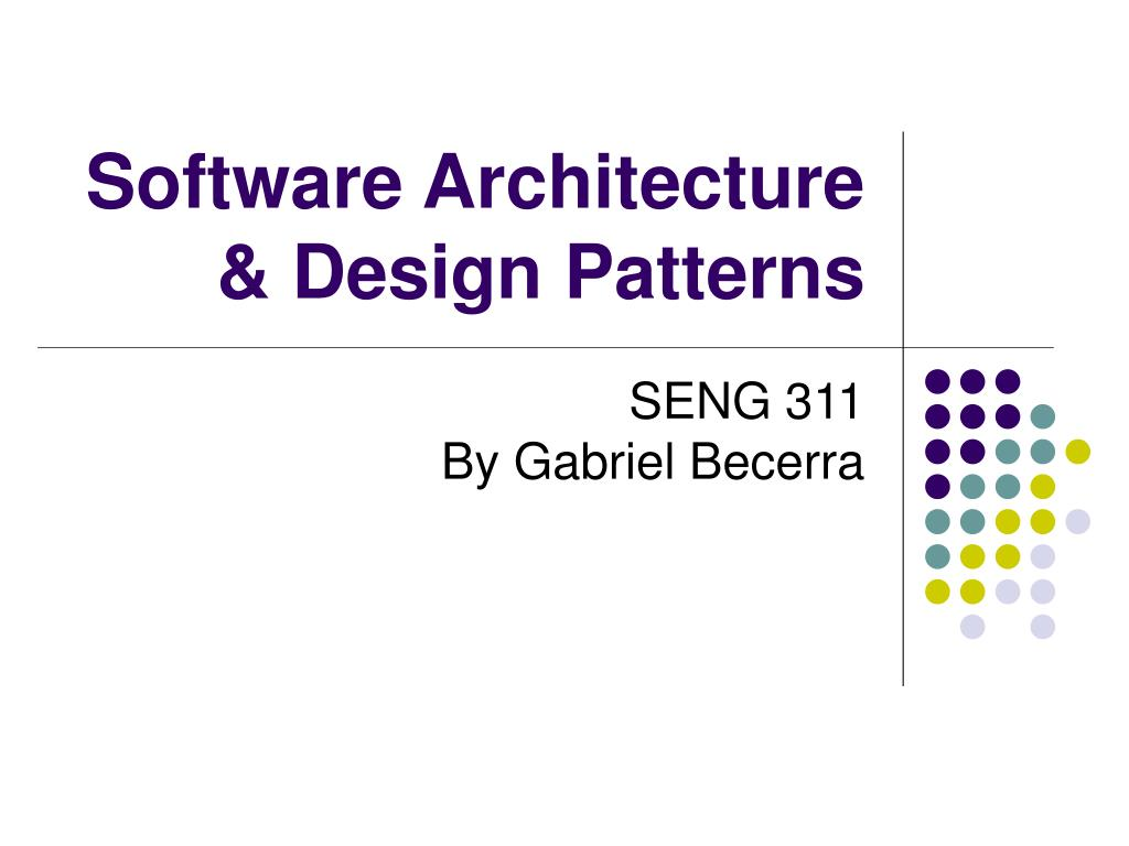 software architecture design patterns l.