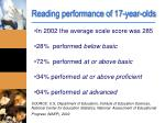 reading performance of 17 year olds1