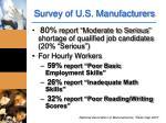 survey of u s manufacturers