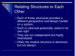 relating structures to each other