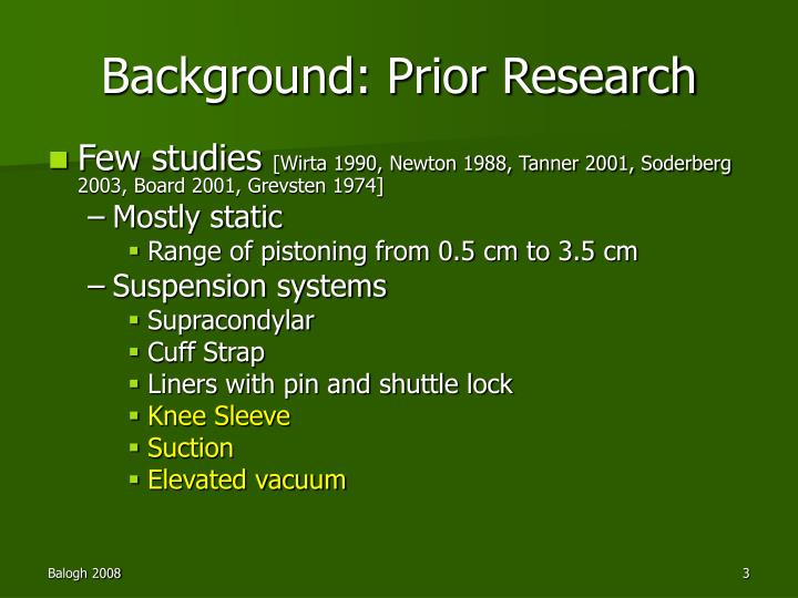 Ppt The Effect Of Transtibial Prosthesis Suspension On