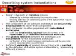 describing system instantiations