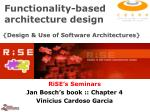 functionality based architecture design