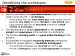 identifying the archetypes