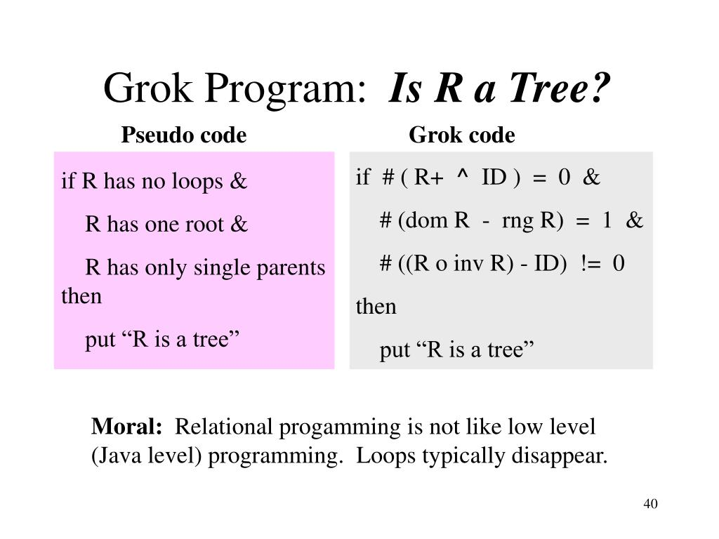 Grok Program: