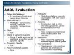 aadl evaluation