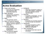 acme evaluation