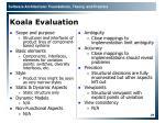 koala evaluation
