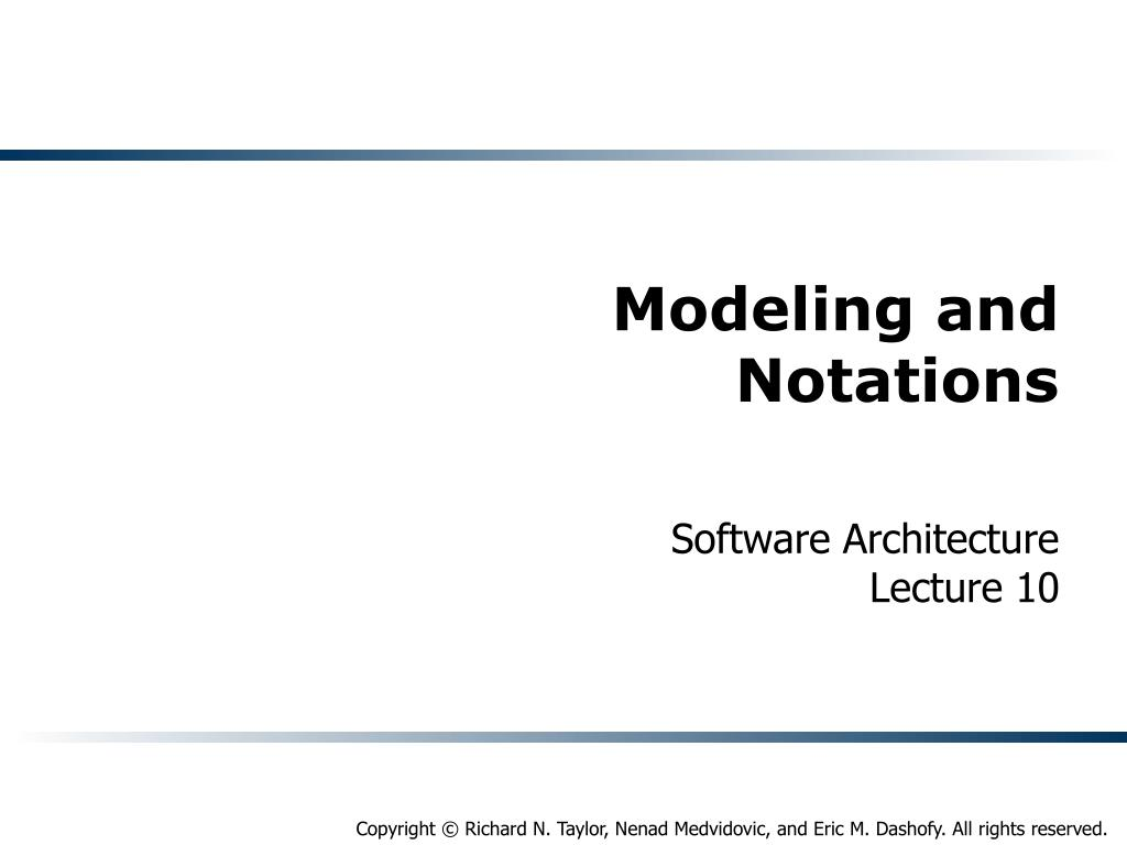 modeling and notations l.