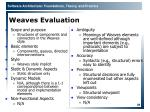 weaves evaluation