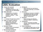 xadl evaluation