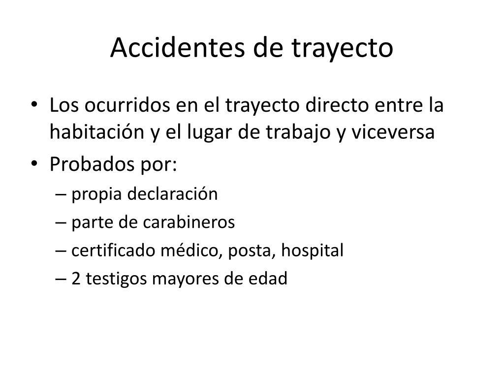Accidentes de trayecto