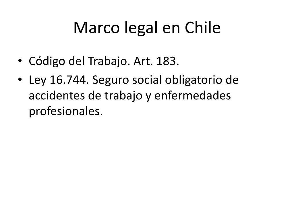 Marco legal en Chile