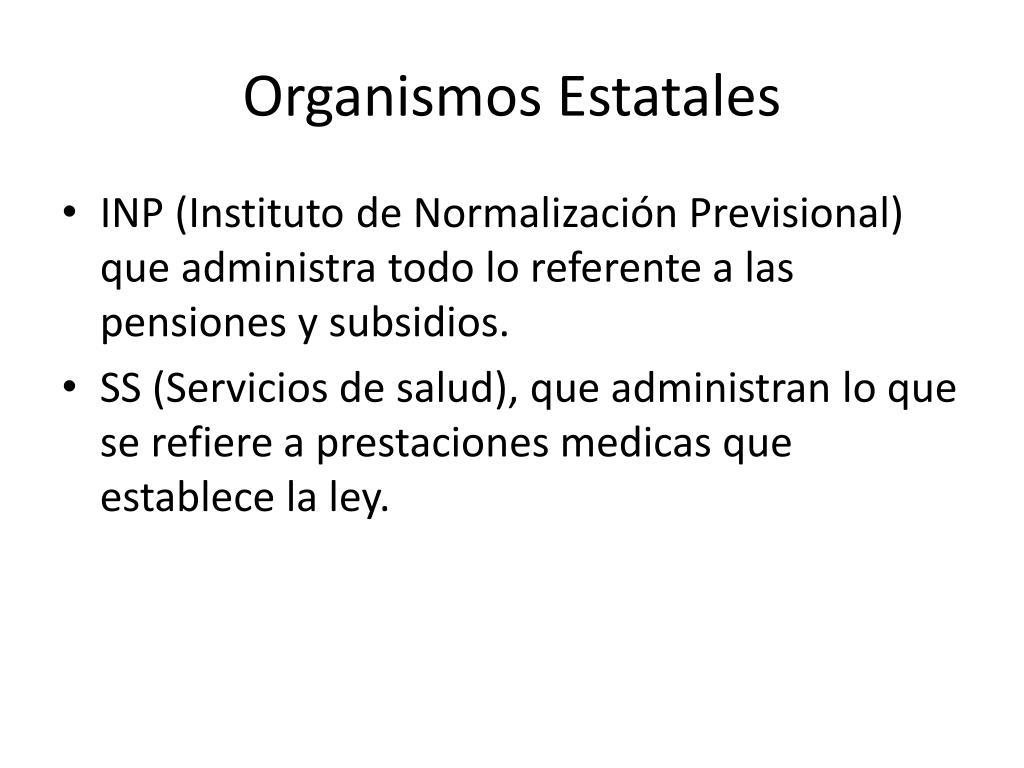 Organismos Estatales