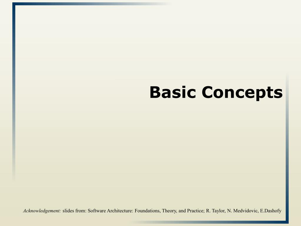 basic concepts l.