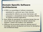 domain specific software architectures