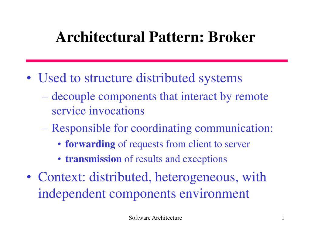 architectural pattern broker l.