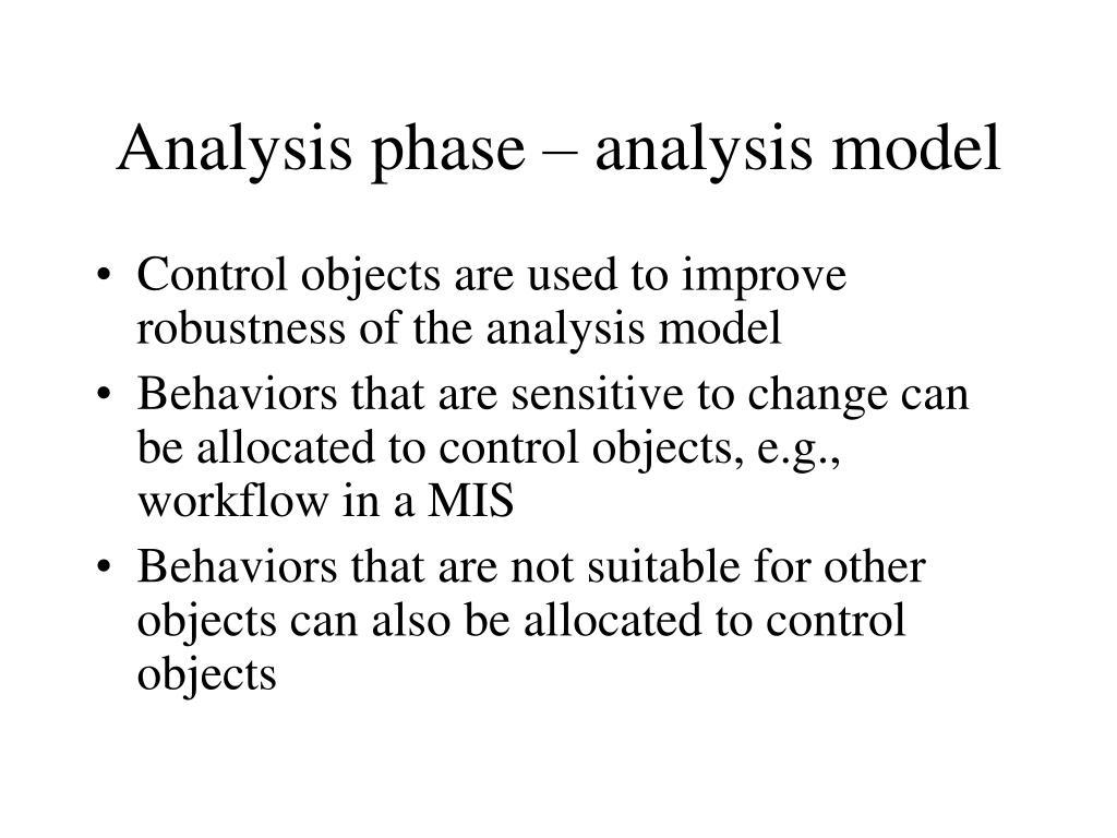 Analysis phase – analysis model
