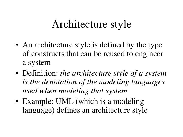 Architecture style3