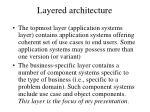 layered architecture43