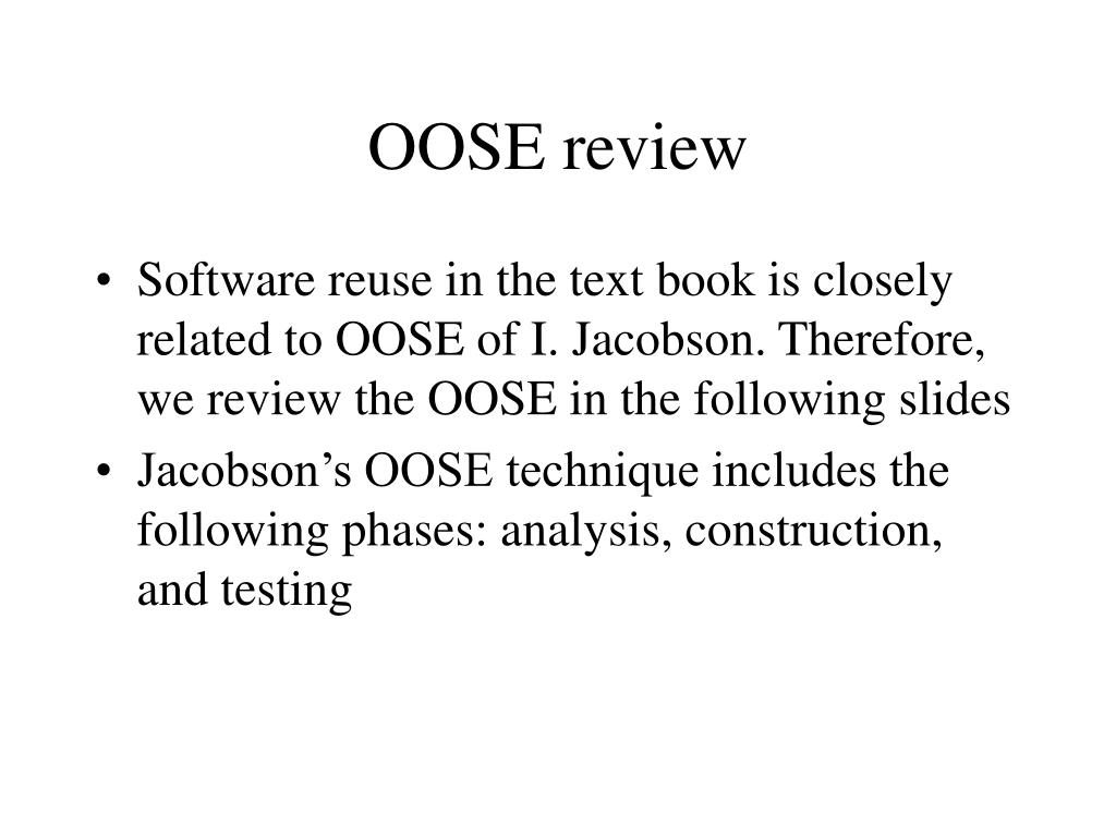 OOSE review