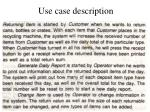 use case description