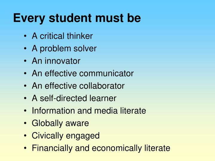 Every student must be