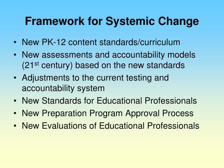 Framework for Systemic Change