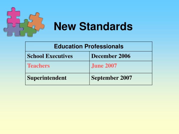 New Standards