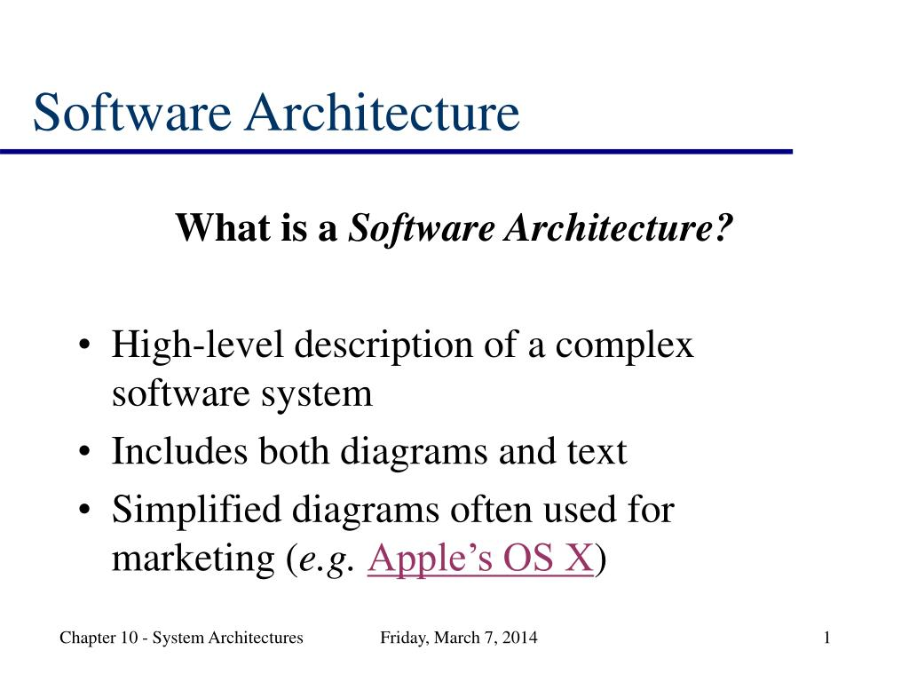 software architecture l.
