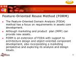 feature oriented reuse method form