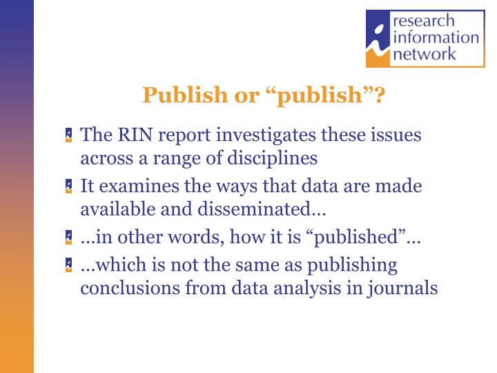 """Publish or """"publish""""?"""