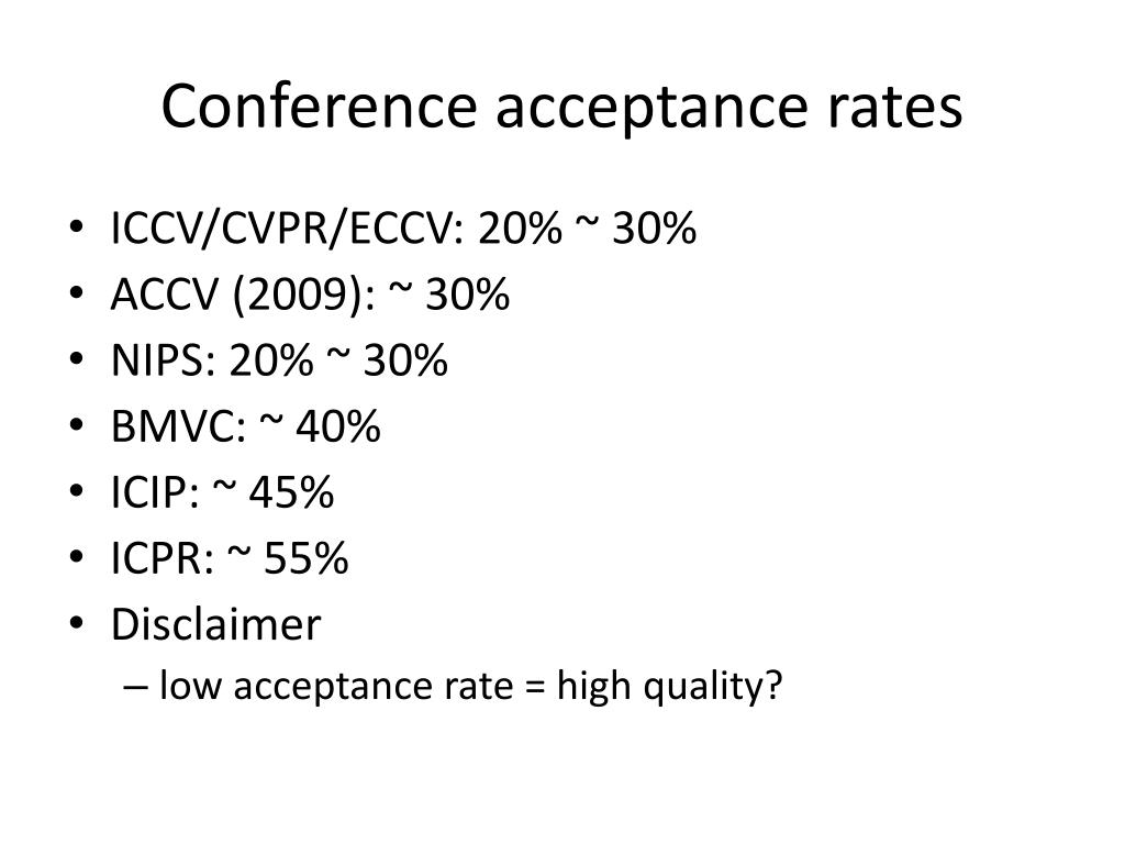 Conference acceptance rates