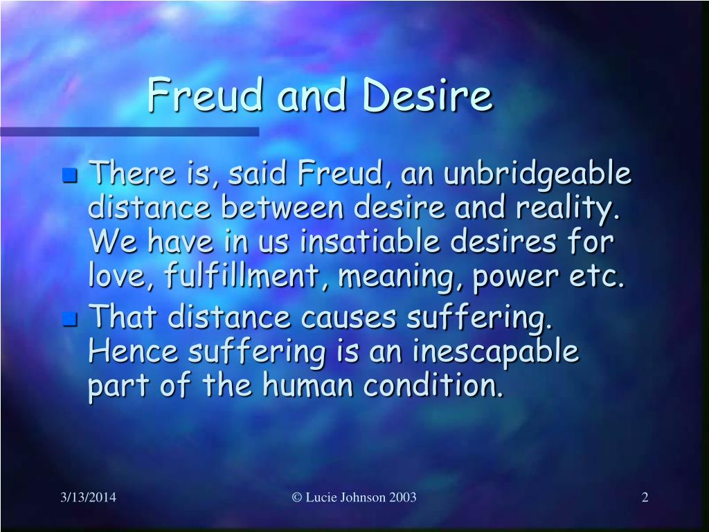 Freud and Desire